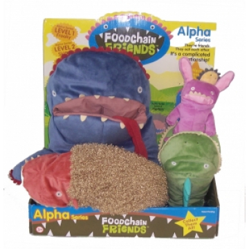 Food Chain Friends 5 piece packaging